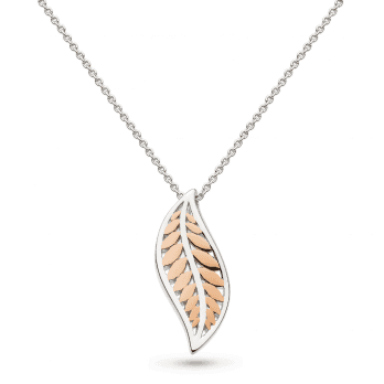 Kit Heath Blossom Eden Blush Leaf Necklace