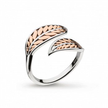 Kit Heath Blossom Eden Blush Leaf Plate Split Ring