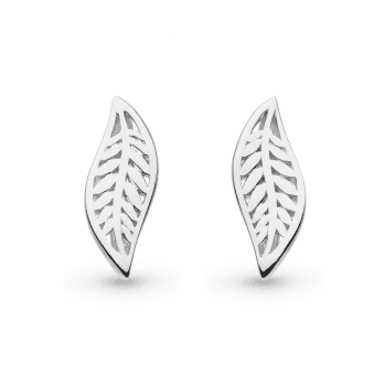 Kit Heath Blossom Eden Small Leaf Stud Earrings