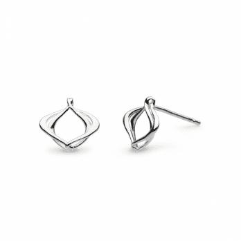 Kit Heath Entwine Alicia Small Silver Stud Earrings