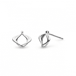 Kit Heath Entwine Alicia Small Silver Stud Earrings