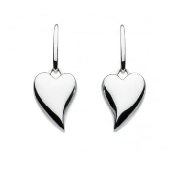 Kit Heath Lust Heart Silver Drop Earrings