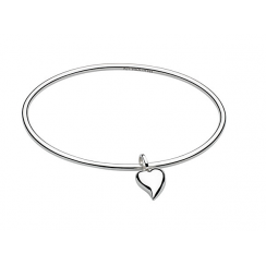 Lustful Heart Bangle, Silver