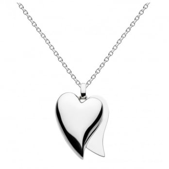 "Kit Heath Treasured Love Affair Heart Necklace 30"" in Sterling Silver"