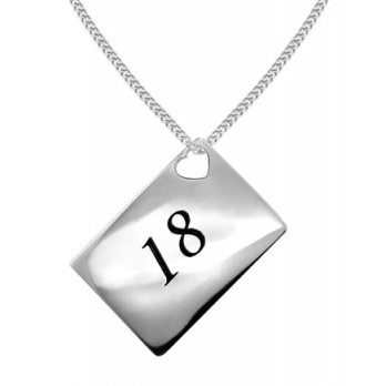 Lily and Lotty Love Letters '18' Envelope Pendant