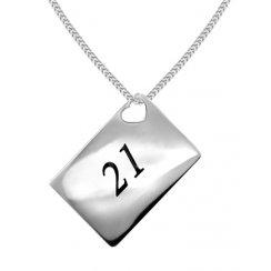 Love Letters '21' Envelope Pendant