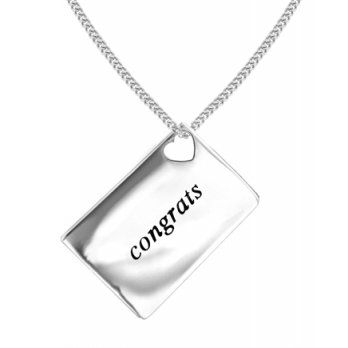 Lily and Lotty Love Letters 'Congrats' Envelope Pendant