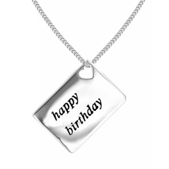 Lily and Lotty Love Letters 'Happy Birthday' Envelope Pendant