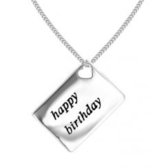 Love Letters 'Happy Birthday' Envelope Pendant