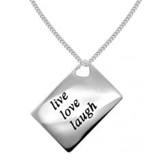 Love Letters 'Live Love Laugh' Envelope Pendant