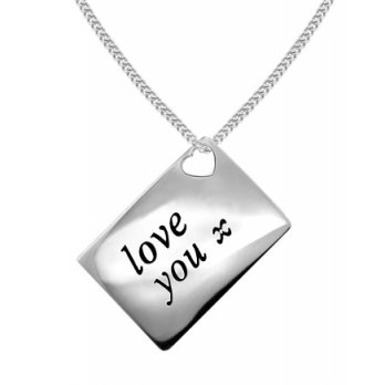 Love Letters 'Love You' Envelope Pendant