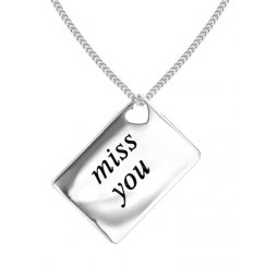 Love Letters 'Miss You' Envelope Pendant