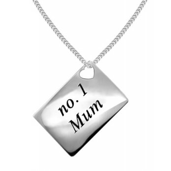 Lily and Lotty Love Letters 'No.1 Mum' Envelope Pendant