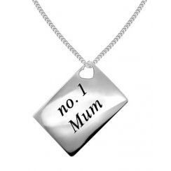 Love Letters 'No.1 Mum' Envelope Pendant