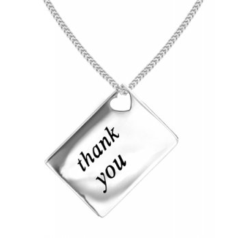 Lily and Lotty Love Letters 'Thank You' Envelope Pendant