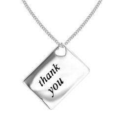 Love Letters 'Thank You' Envelope Pendant