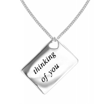 Lily and Lotty Love Letters 'Thinking of You' Envelope Pendant