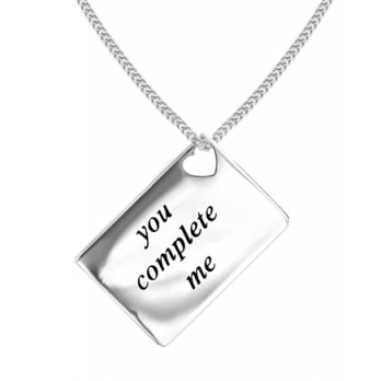 Lily and Lotty Love Letters 'You Complete Me' Envelope Pendant