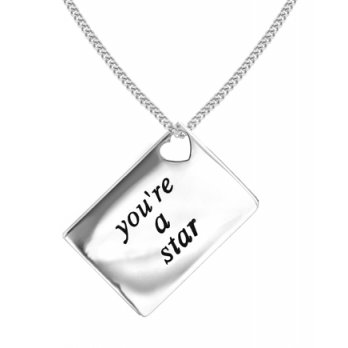 Lily and Lotty Love Letters 'You're a Star' Envelope Pendant