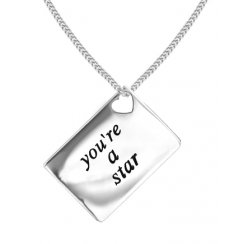 Love Letters 'You're a Star' Envelope Pendant
