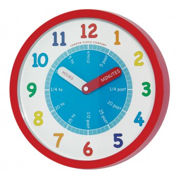 London Clock Company Childrens Tell the Time Wall Clock