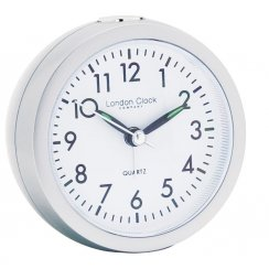 Round Alarm Clock in Silver