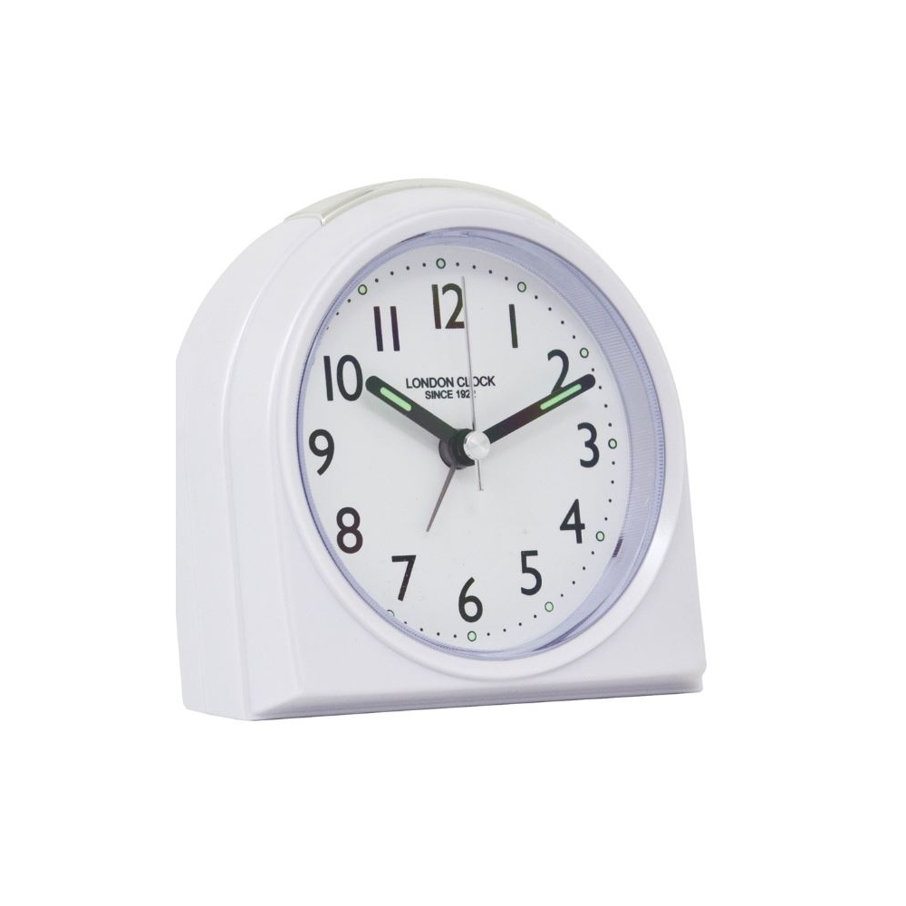Rounded Top Alarm Clock White