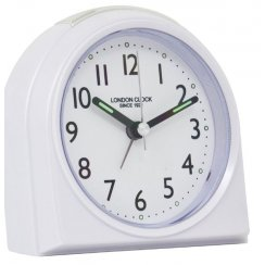Rounded Top Alarm Clock - White