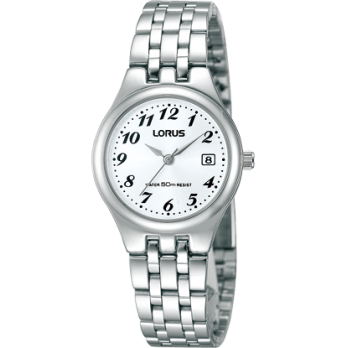 Lorus Ladies Stainless Steel Date Watch - RH725AX9