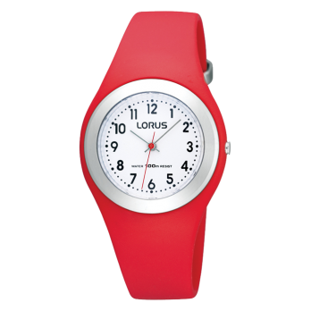 Lorus Red Childrens Analogue Watch - R2301GX9
