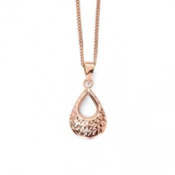 Open Drop 9ct Rose Gold Pendant