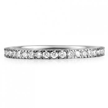 Platinum Micro Set Brilliant Cut Full Eternity Ring