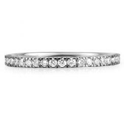 Platinum Micro Set Brilliant Cut Full Eternity Ring