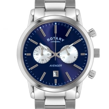 Rotary Men's Blue Dial Avenger Stainless Steel Chronograph