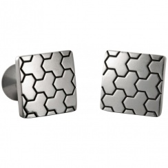 Honeycomb Square Pewter Cufflinks