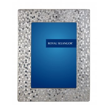 Mirage Honeycomb Pewter Photo Frame