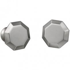 Octagonal Pewter Cufflinks