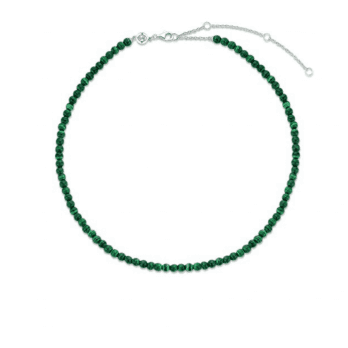 Ti Sento Milano Malachite bead necklace