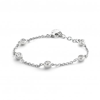 Ti Sento Rhodium Plated Silver Cubic Zirconia Set Bracelet