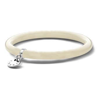 Ti Sento Sterling Silver Pearlised Resin Slave Bangle