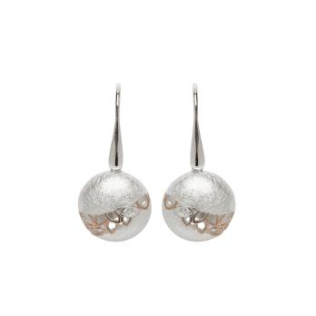 Unique & Co Open Leaves Silver Earrings