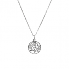 Unique & Co Silver and Cubic Zirconia set Tree of Life Design Necklace