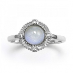 Brilliance Blue Chalcedony Silver Ring