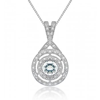 V Jewellery Brilliance Crossover Silver Pendant