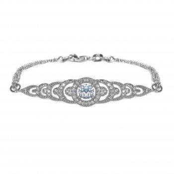V Jewellery Brilliance Graduating Silver Bracelet