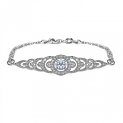 Brilliance Graduating Silver Bracelet