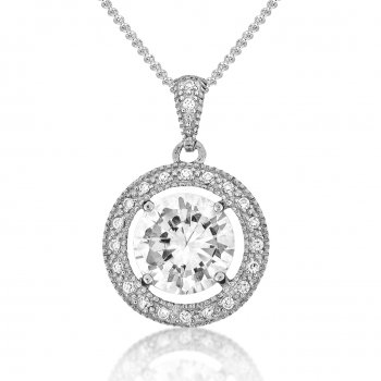 V Jewellery Brilliance Silver Pendant