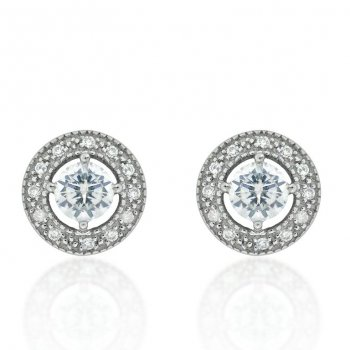 V Jewellery Brilliance Silver Stud Earrings