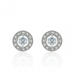 Brilliance Silver Stud Earrings