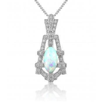 V Jewellery Deco Empire Silver Pendant